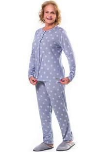 Pijama Aberto Floral Feminino Adulto Floral M