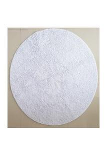 Tapete Algodáo Par Sala/Quarto - Redondo - 1,50 X 1,50 - Cor Branco