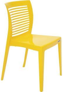 Cadeira Victoria- Amarela- 82,5X49X54,5Cm- Tramotramontina