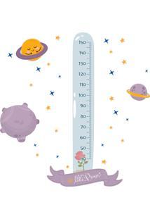 Adesivo De Parede Infantil Pequeno Principe Régua 137Cm