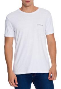 Camiseta Ckj Mc Logo Peito - Branco 2 - P