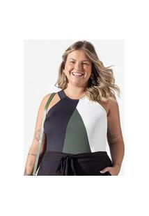 Blusa Feminina Plus Size Frente Única Secret Glam Verde