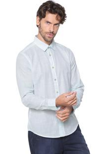 Camisa Malwee Slim Listrada Verde