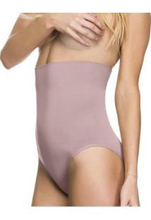 Calcinha Modeladora Tanga Alta Sem Costura - Feminino-Roxo