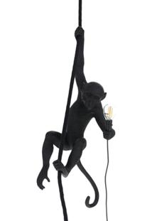Seletti Abajur Monkey Ceiling - Preto