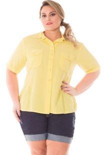 f29c113aaf ... Camisa Confidencial Extra Plus Size Color Feminina - Feminino-Amarelo  Claro