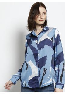 Camisa Abstrata - Azul & Azul Escuroscalon