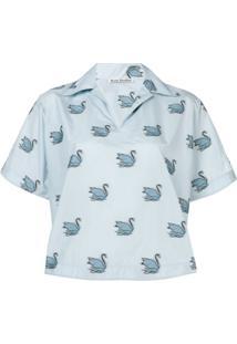 64a60df512dab ... Acne Studios Camiseta Com Estampa - Azul