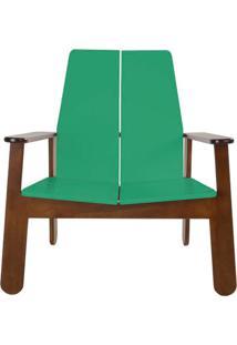 Poltrona Paleta Estrutura Cacau Acabamento Verde Claro 88Cm - 61090 - Sun House