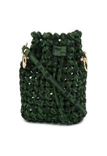 Fendi Bolsa Bucket Mon Tresor Mini Com Trama - Verde