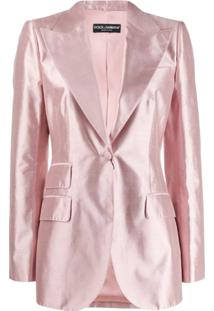 Dolce & Gabbana Tailored Satin Blazer - Rosa