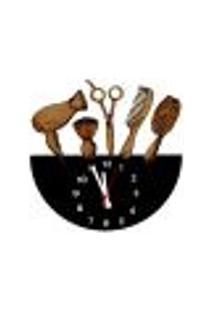 Relógio De Parede Decorativo - Modelo Cabeleireira - Me Criative - 28X28Cm