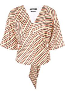 Calvin Klein 205W39Nyc Blusa De Seda Listrada - Estampado