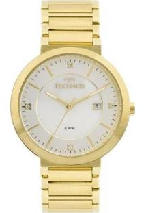 Relógio Technos St.Moritz 2115Ktl/4B Feminino - Feminino-Dourado