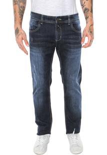 Calça Jeans Sawary Slim Desgastes Azul
