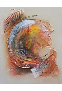Quadro Artesanal Abstrato 40X50 Amarelo Uniart