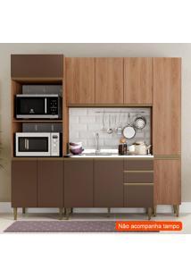 Cozinha Compacta Cook 11 Pt 2 Gv Madeira E Oxid