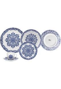 Aparelho De Jantar Chá Oxford Blue Indian Com 20 Peças