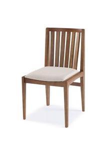 Cadeira Brisa Encosto Ripado Assento Estofado - 51168 Preto
