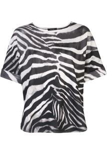 Natori Blusa Com Estampa De Zebra - Branco