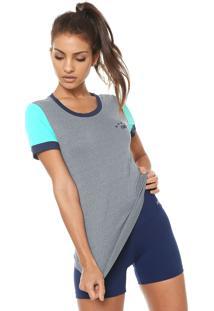 Camiseta Alto Giro Skin Fit Silk 10 Cinza/Verde