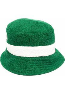 Casablanca Chapéu Bucket Com Listras E Pelos - Verde