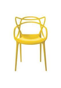 Cadeira Allegra Em Polipropileno Cor Amarelo - 44931 Amarelo