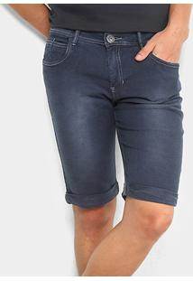 Bermuda Moletom Preston Destroyed Barra Dobrada Masculina - Masculino-Jeans
