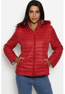 Jaqueta Em Matelassê Acolchoado- Vermelhaclub Polo Collection
