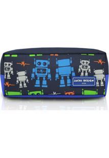Necessaire/Estojo Jacki Design Sapeka Robô Azul