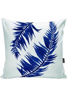 Capa Para Almofada Impermeável- Branca & Azul- 45X45Stm Home
