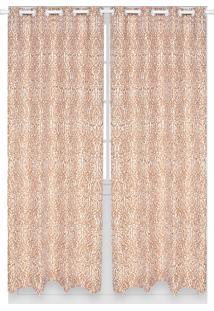 Cortina Santista Londres Basic Estampada 280X230 Branca/Bege