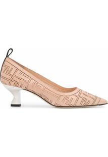 Fendi Sapato Colibrì Com Estampa Ff - Neutro