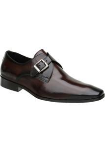 Sapato Monk Masculino Malbork Em Couro 32206 - Masculino-Marrom