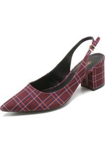 Scarpin Dafiti Shoes Xadrez Vinho