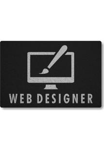 Tapete Capacho Web Designer - Preto