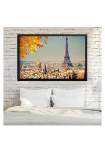 Quadro Love Decor Com Moldura Outono Em Paris Preto Médio