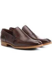 Sapato Casual Couro Shoestock Morgan - Masculino-Tabaco