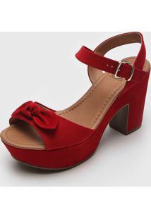 Sandália Bebecê Laço Vermelha