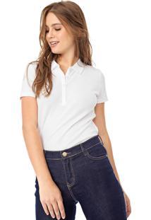 Camisa Polo Gap Reta Lisa Branca