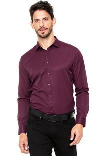 Camisa Vivacci Listras Vinho