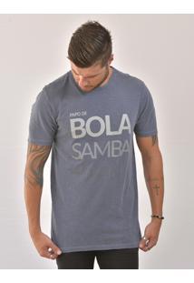 Camiseta Bora Papo Masculina - Masculino-Azul