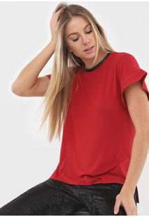 Blusa Iodice Zíper Vermelha