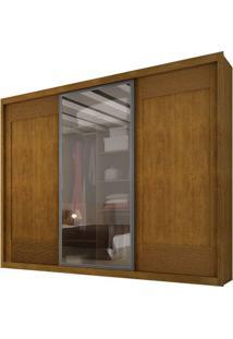 Guarda-Roupa Ravena Reflecta Com Espelho - 3 Portas - 100% Mdf - Imbuia