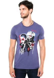 Camiseta Fashion Comics Suicide Squad Roxa