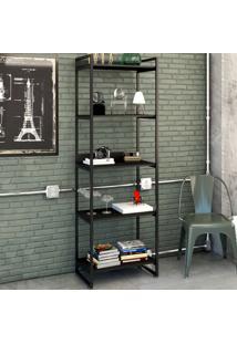 Estante Para Livros 5 Prateleiras Ônix 8393 - Compace
