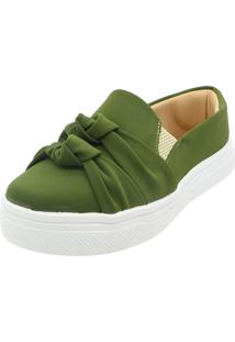 Tenis Hope Shoes Slipper Nó Duplo Verde Militar