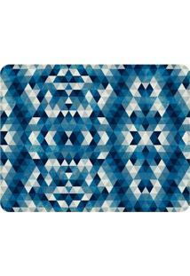 Tapete Geométrico Azul- Azul Escuro & Azul Claro- 12Wevans