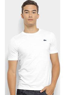 Camiseta Lacoste Live Masculina - Masculino-Branco