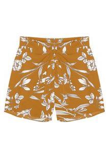 Shorts Feminino Plus Size Secret Amarelo
